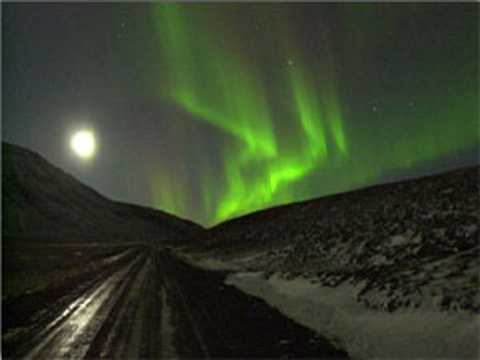 Северное сияние (Исландия)