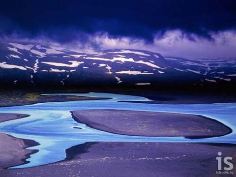 Дельта реки Йокульса (Jokulsa)