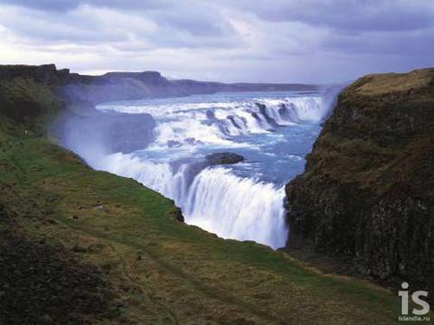 Золотой водопад (Gullfoss)